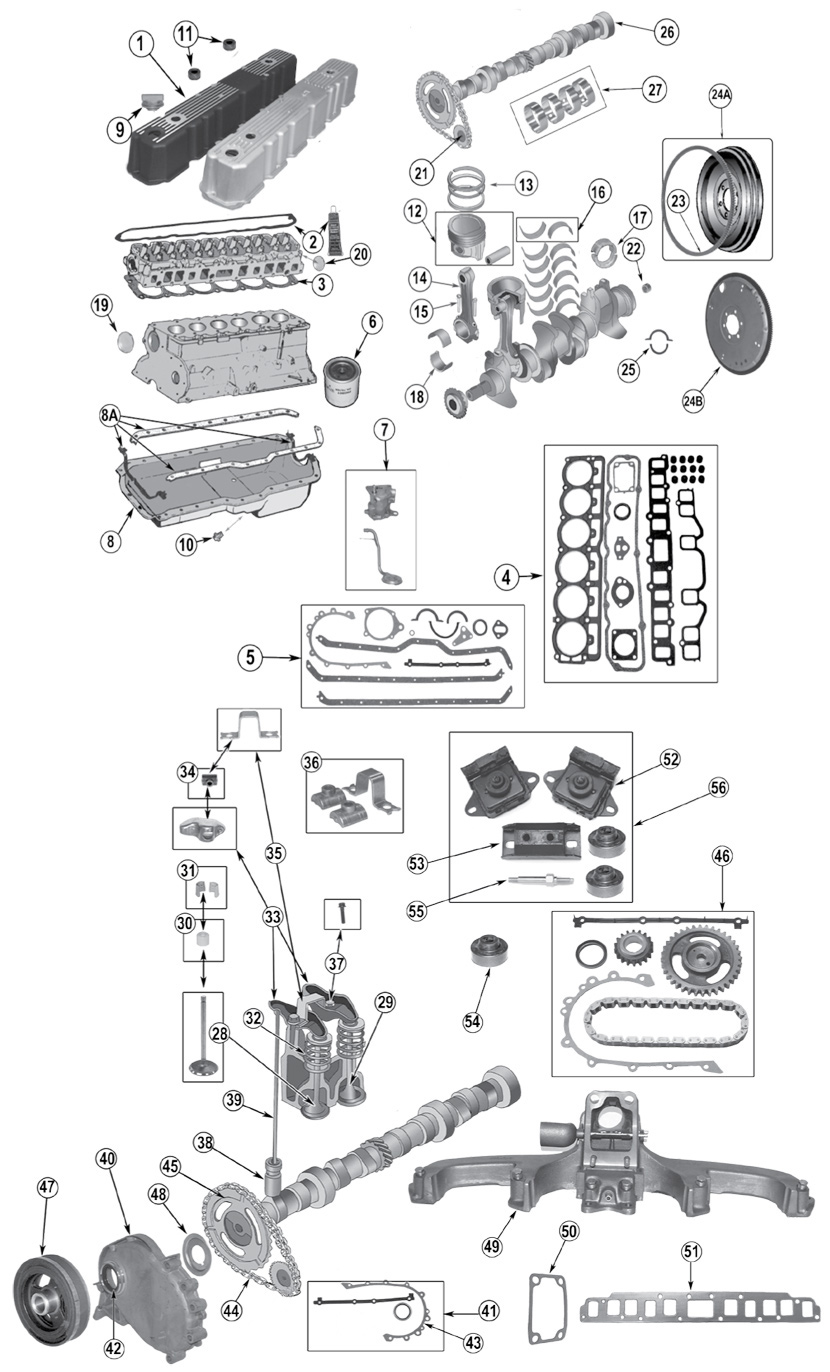 diagram engine jeep cj-7 1976  1986