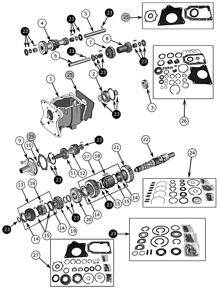 Technické schéma Prevodovka Jeep CJ-7 1976/1986 - Crown (RDR