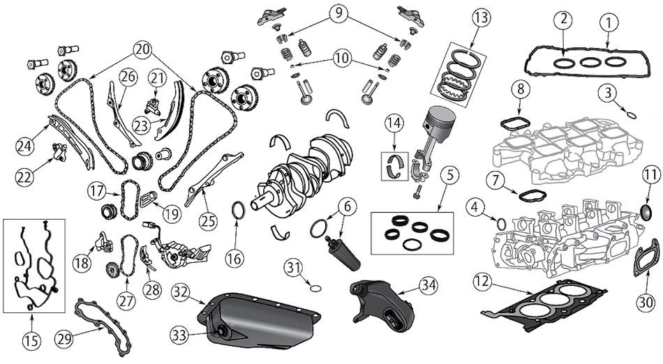 diagrama motor jeep jk wrangler 2007  2017