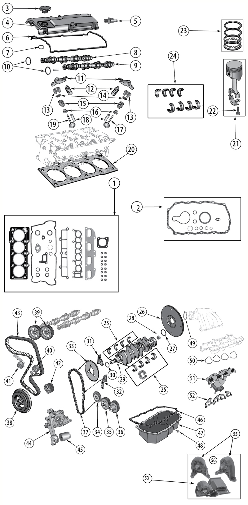 ford liter dohc engine diagram auto wiring  ford  auto