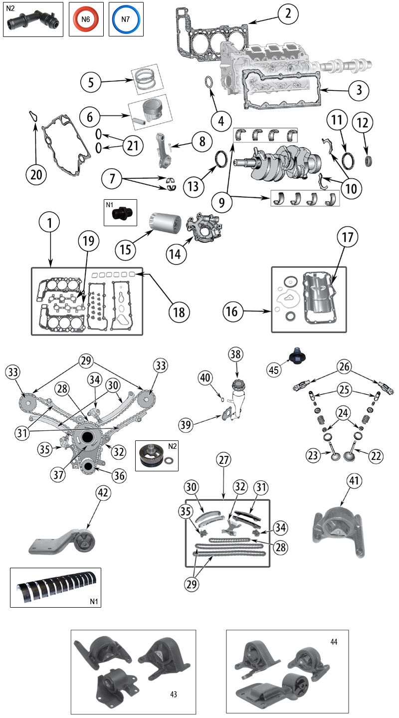 diagrama motor jeep kj liberty 2002  2007