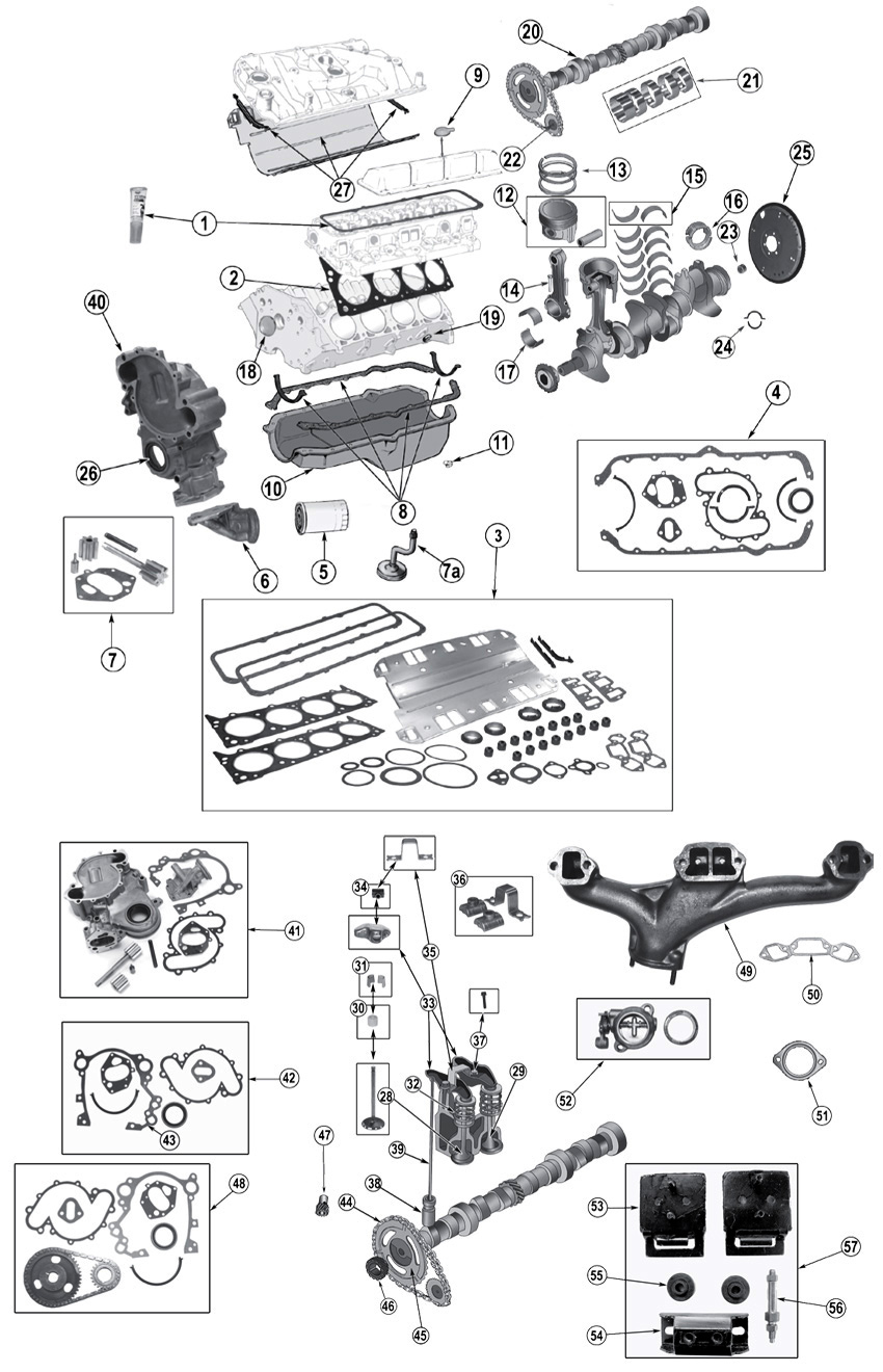 diagrama motor jeep sj grand wagoneer 1962  1991