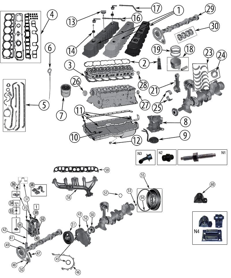 diagrama motor jeep tj wrangler 1996  2006