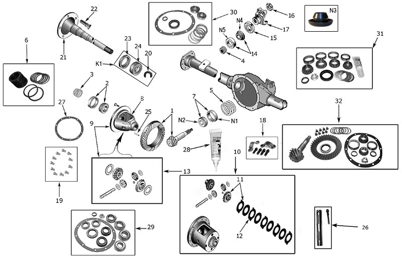 Diagram Axles Jeep TJ Wrangler 19962006 Crown RDR Automotive – Jeep Tj Wrangler Engine Diagram