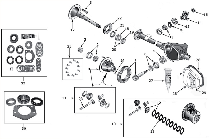 diagram axles jeep tj wrangler 1996  2006