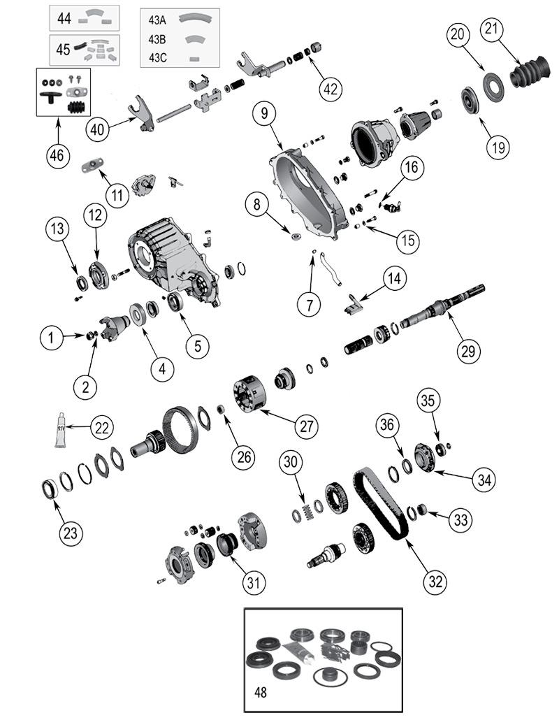 diagrama caja de transferencia jeep wj  wg grand cherokee