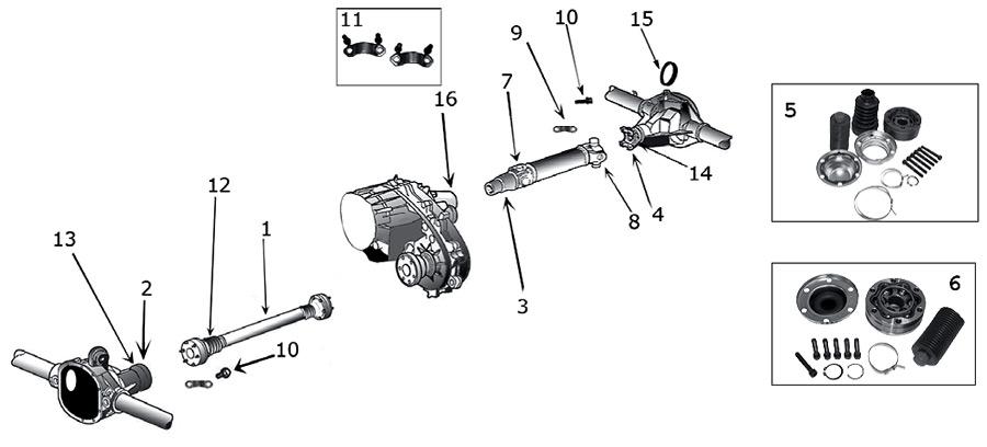 diagrama ejes jeep wj  wg grand cherokee 1999  2004