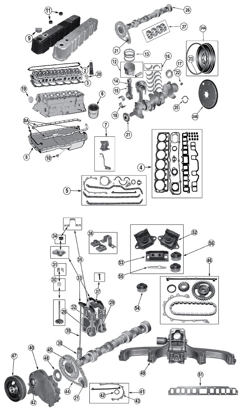 diagrama motor jeep yj wrangler 1986  1996